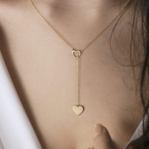 Simple Love Pendant Women's Y-shaped Necklace