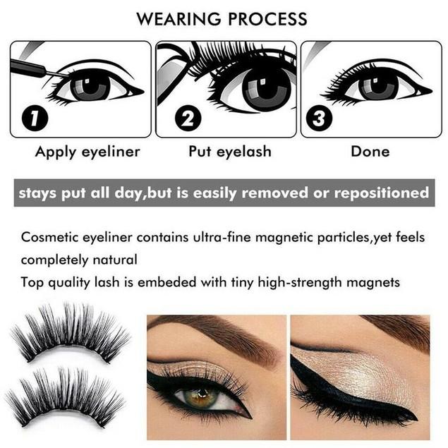 Magnetic liquid Eyeliner with False Eyelashes Set Salon Makeup Tool Kit
