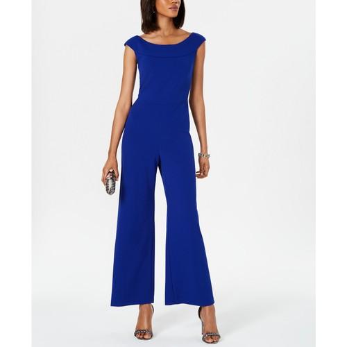 Connected Women's Wide-Leg Jumpsuit Med Blue Size 10