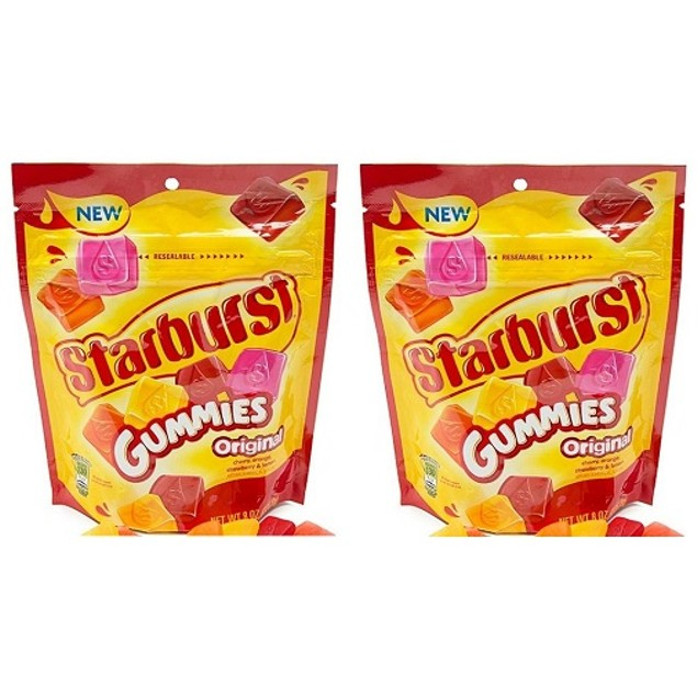 Starburst Original Fruit Flavor Gummies 2 Bag Pack