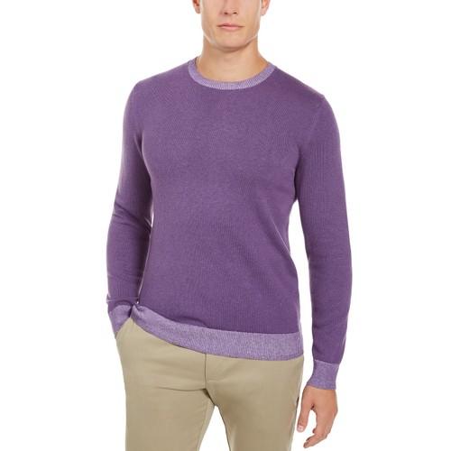 Tasso Elba Men's Crew Neck Sweater Purple Size Medium