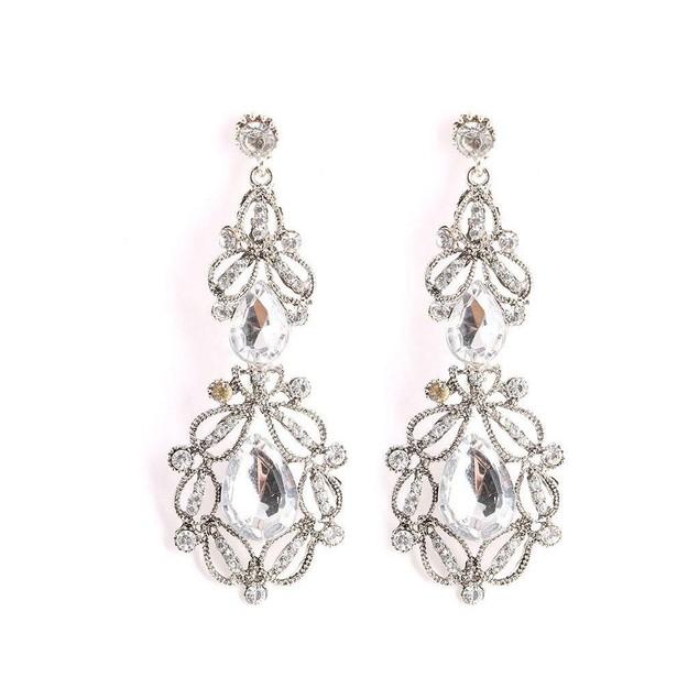 Novadab Clear Diamond Sweet Love Chandelier Women Earrings