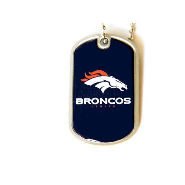 Denver Broncos Dog Tag Necklace Charm Chain