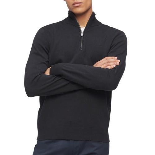 Calvin Klein Men's 1/4-Zip Sweater Charcoal Size Small