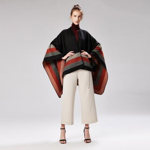 Ladies Jacquard Shawl Catwalk Cloak