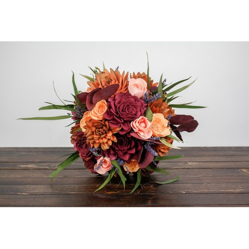 Sola Wood Flower Bouquet - Chill in the Air
