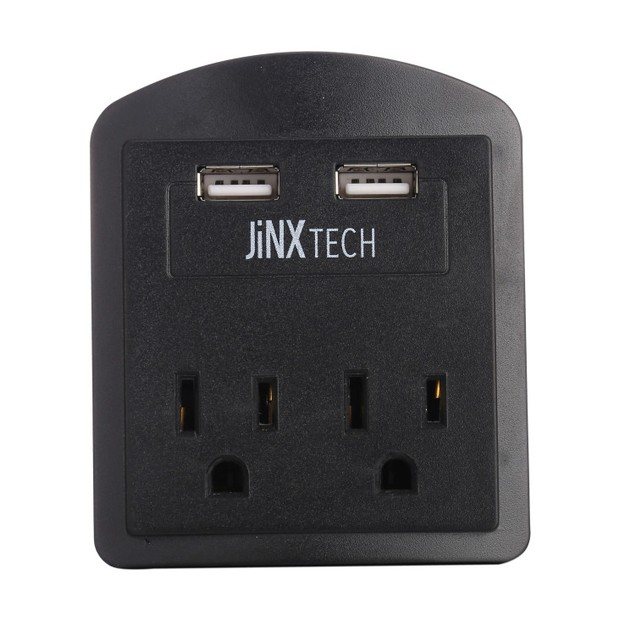 JinxTech 2 Outlet / 2 USB Surge Protection Wall Tap