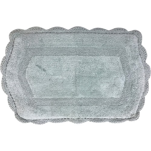 Spura Home Handmade Victorian Oriental Inspired Bath Mat Plesh 27x32