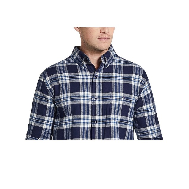 Weatherproof Brushed Antique Flannel Plaid Shirt Peacoat 3 Extra Large