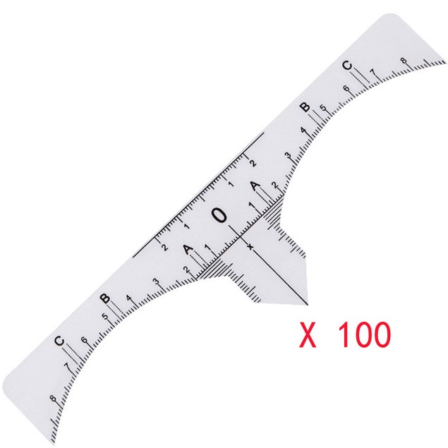 One-time Microblading Brow Measure Eyebrow Guide Ruler Permanent Tools