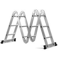 Costway 12.5' 12-Step Multi Purpose Step Platform Aluminum Folding Scaffold