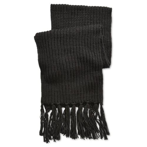Steven Madden Men's Chunky Knit Scarf Black One Size