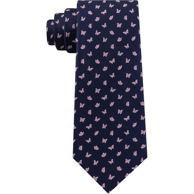 Tommy Hilfiger Men's Mini Butterfly Silk Tie Blue Size Regular