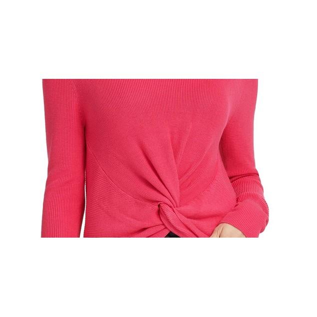 DKNY Women's Twist Hem Sweater Pink Size Small