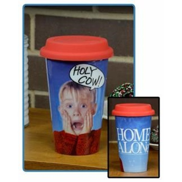Holy Cow Home Alone 12 oz Travel Mug Kevin McCallister Wet Movie