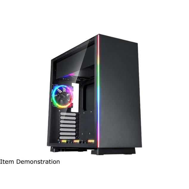 Rosewill ATX Mid Tower Gaming PC Aura Sync Compatible Dual Ring - Computer Case