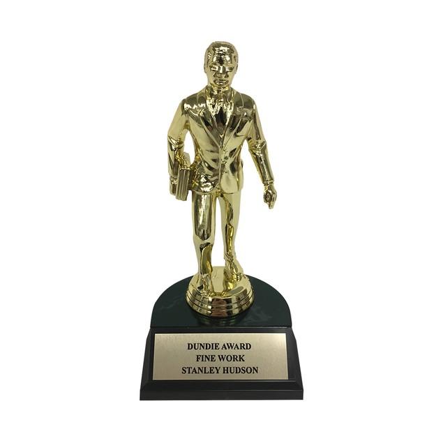 Stanley Hudson Fine Work Dundie Award Trophy Office Dunder Mifflin Gift