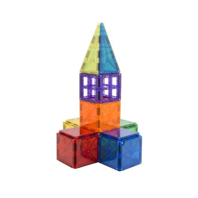 49-Piece ZUMMY Kids Magnetic Building Blocks Tile Set