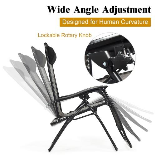 Costway Folding Zero Gravity Lounge Chair Recliner
