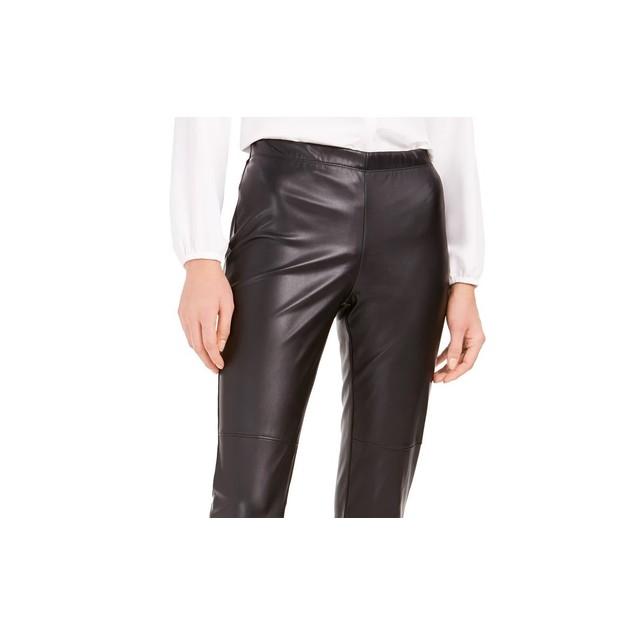 Bar III Women's Faux Leather Skinny Pants Black Size Small