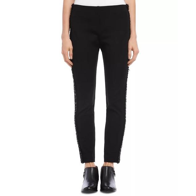 Karen Kane Women's Piper Braid Trim Ankle Skinny Pants Black Size Large