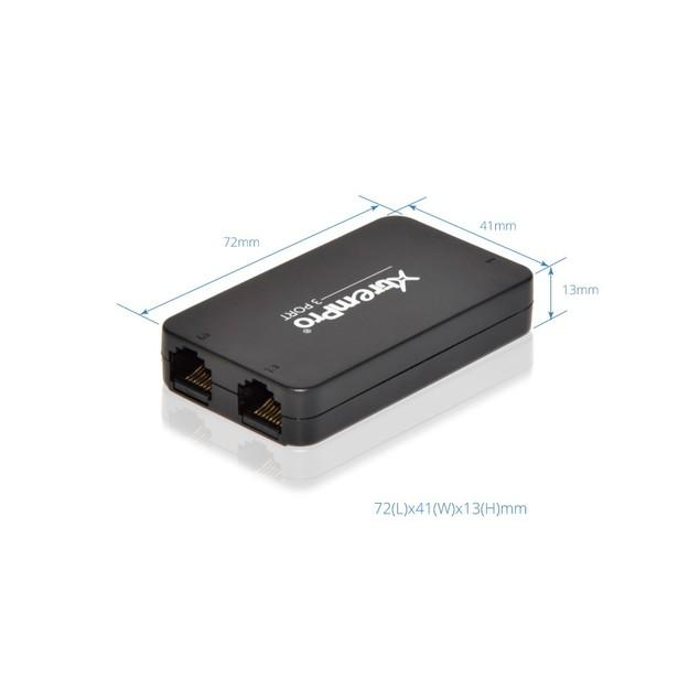 XtremPro 3-Port USB Powered 10/100Mbps Ethernet RJ45 Network Switch Hub