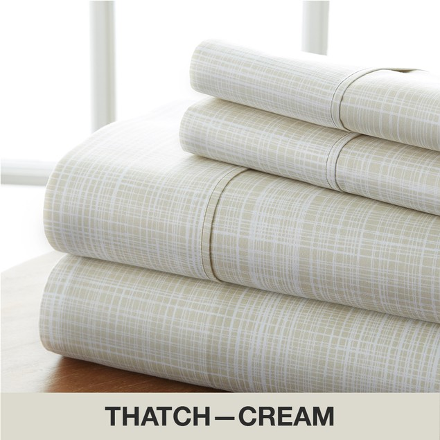 Becky Cameron Premium Ultra Soft Thatch Pattern 4 Piece Bed Sheet Set
