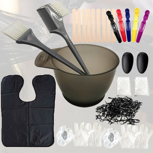 35 Pieces Hair Dye Coloring Brush and Mixing Bowl Set for DIY Salon Ha