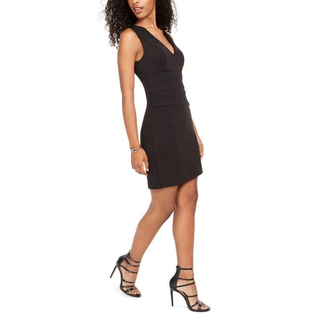 Teeze Me Juniors' Paneled Bodycon Dress Black Size 11