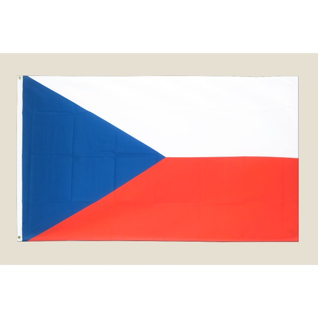 Czech Republic 3x5 Flag Red White Blue Polyester 2 Brass Grommets Europe