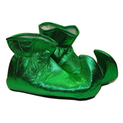 Green CLOTH Elf Shoes