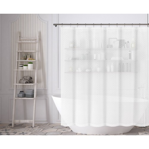 Edith Dotted Shower Curtain
