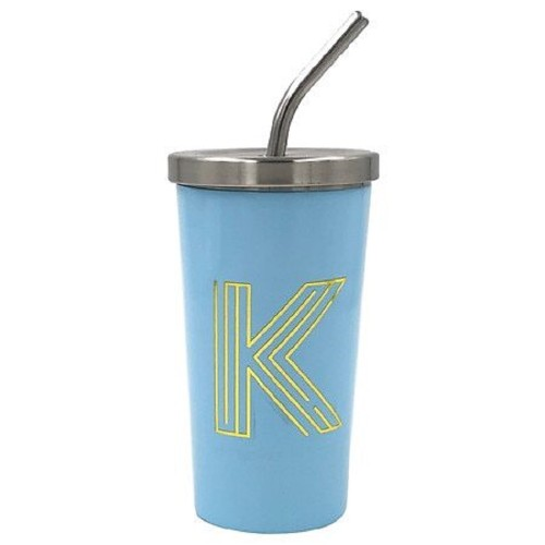 """Modern Expressions Classic Insulated """"K"""" Monogrammed Durable Steel Tumbler,"""