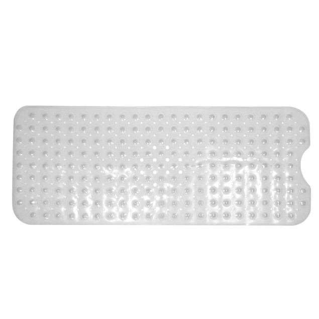 Non-Slip Extra Long Bath and Shower Mat | Pukkr Clear