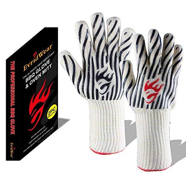 Evridwear 932°F Extreme Heat and Cut Resistant Gloves for Baking, Grilling