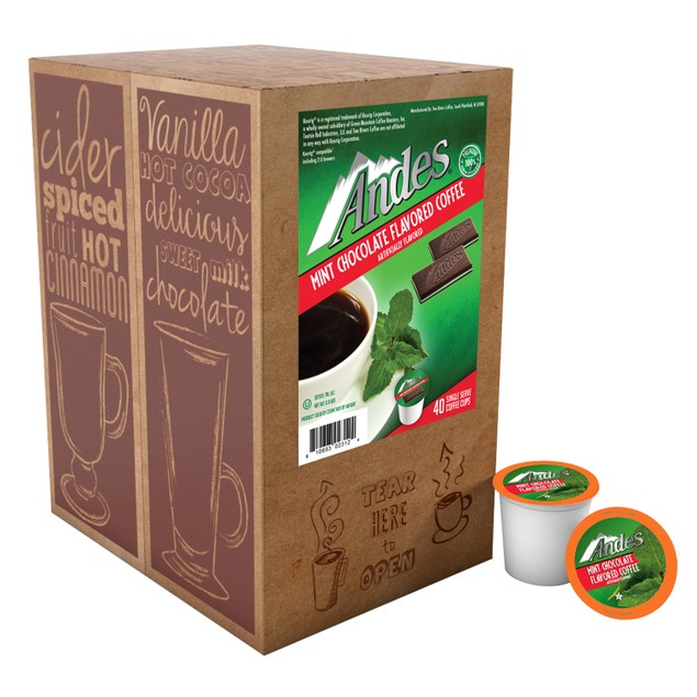 Andes Chocolate Mint FLAVORED Coffee Pods for Keurig K-Cup Brewer (40 Count)