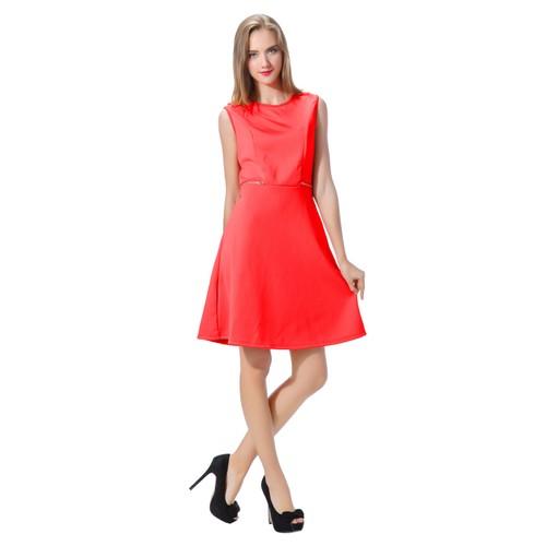Women's Short Dress Sleeveless Solid Color Evening Scuba Sheath dress