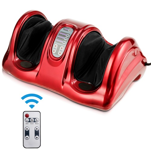 Costway Shiatsu Foot Massager Kneading and Rolling Leg Ankle Red