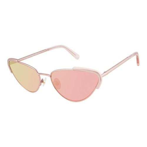 Rebecca Minkoff Women Sunglasses RMINDIO1S Red Gold Cat Eye/Butterfly Multilayer