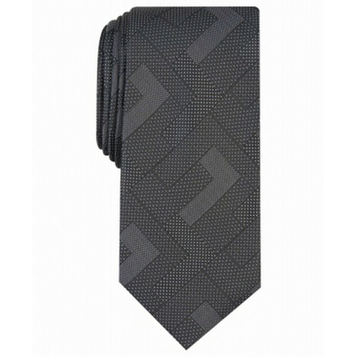 Alfani Men's Slim Abstract Geometric Tie Black Size Regular