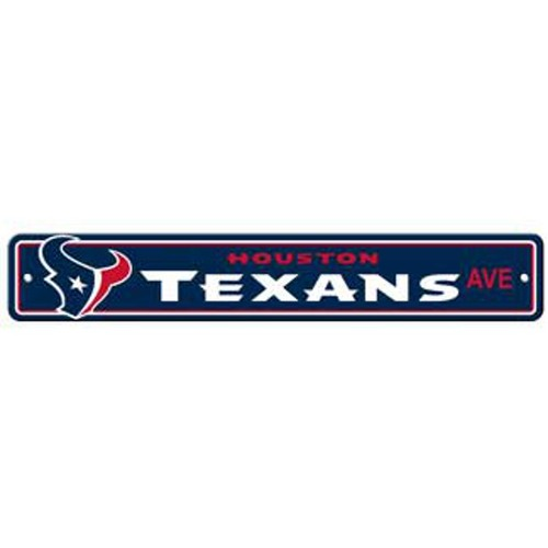 "Houston Texans Ave Street Sign 4""x24"""