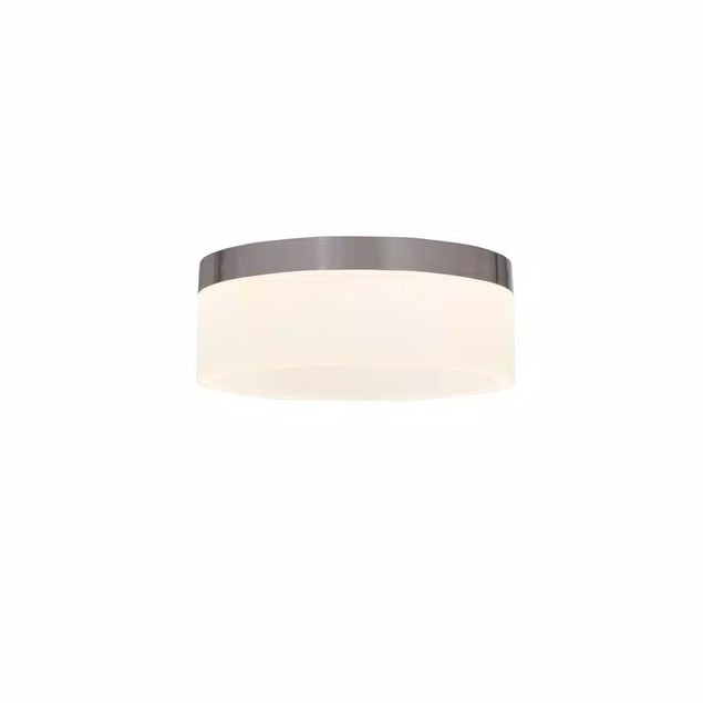 Home Decorators Collection 12-W Brushed Nickel LED Ceiling Flush Mount