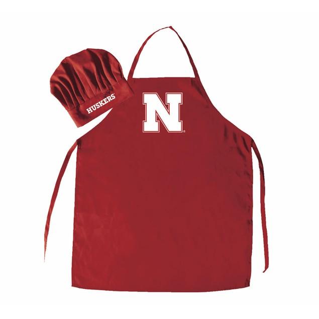 NCAA Nebraska Cornhuskers Chef Hat And Apron