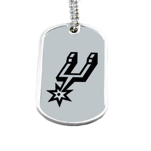 NBA Sports Team Dog Tag Domed Necklace Charm Chain