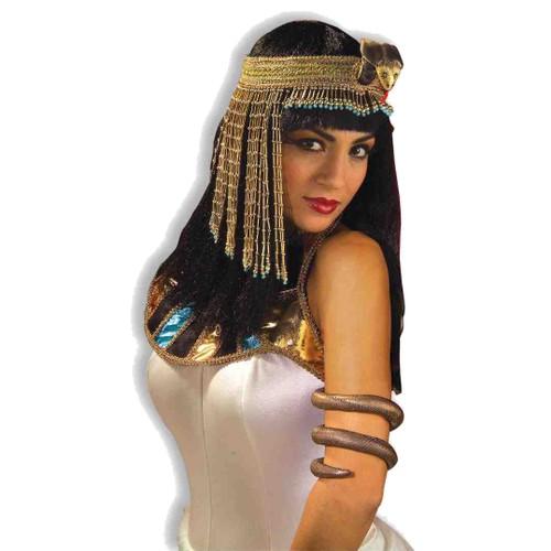 Asp Snake Beaded Headpiece Cleopatra Headband Egyptian  Queen Costume Adult
