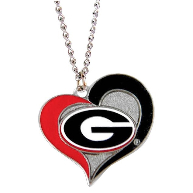 Nebraska Cornhuskers Huskers Swirl Heart Necklace NCAA Charm Gift