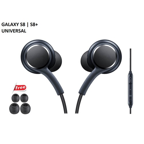 Cellvare Stereo Headset (AKG) for Samsung Galaxy S8, S8 +, S9, S9 + - Black