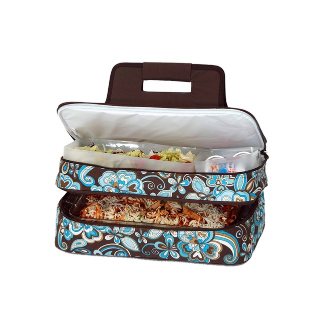 Picnic Plus Entertainer Hot & Cold Food Carrier Cocoa Cosmos