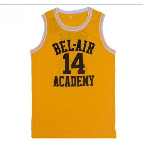 Will Smith #14 Bel Air Yellow Basketball Jersey