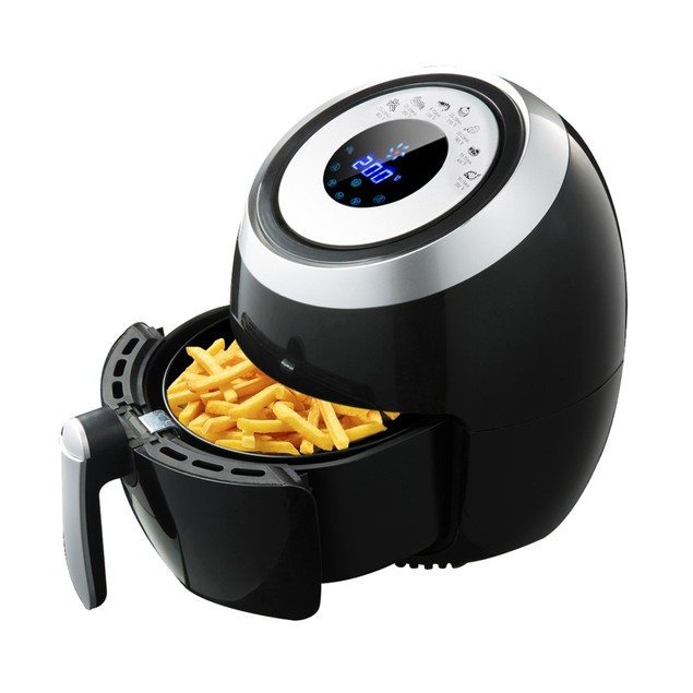 BIGTREE 5L Air Fryer, Family Size Electric Hot Air Fryers XL LCD Digital Touch Screen Nonstick Detachable Basket, UL Certified,1500W (Black)
